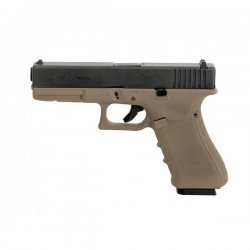 Pistol full metal Glock 17 WE- TAN