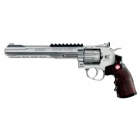 """Pistol airsoft Co2 RUGER SUPERHAWK CHROME EDITION 8"""""""